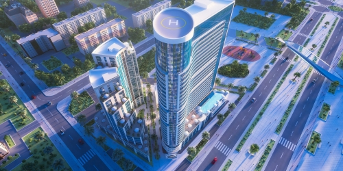 Apartments in a luxury complex
