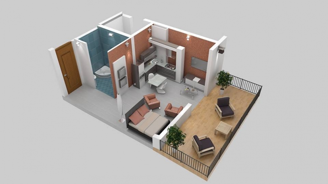 An apartment in Makhinjauri for sale