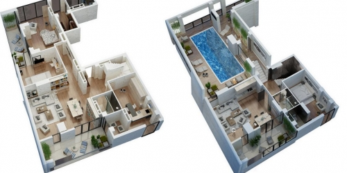 Penthouse in the city center
