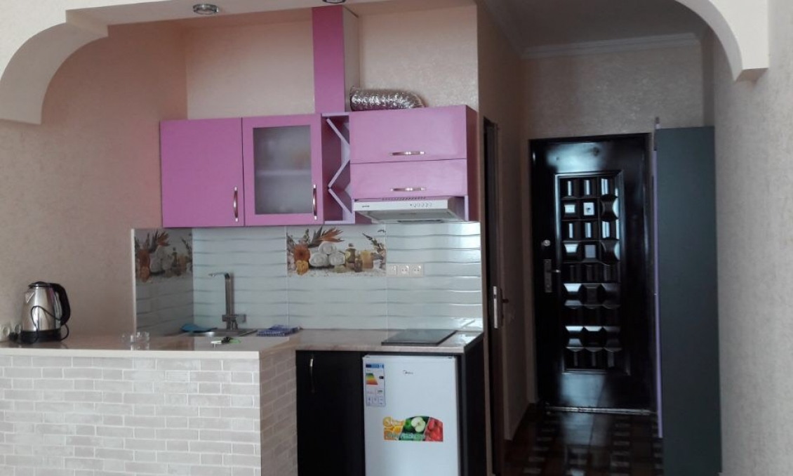 Sale of an apartment 150 meters from the beach with repair, furniture, appliances and a beautiful vi