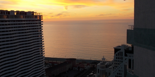 An apartment for sale in Batumi on the 25th floor with Seaview